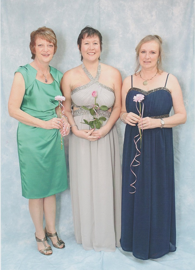 Judy, Laura and Tina - the organisers of the first Breast Cancer Kent charity ball