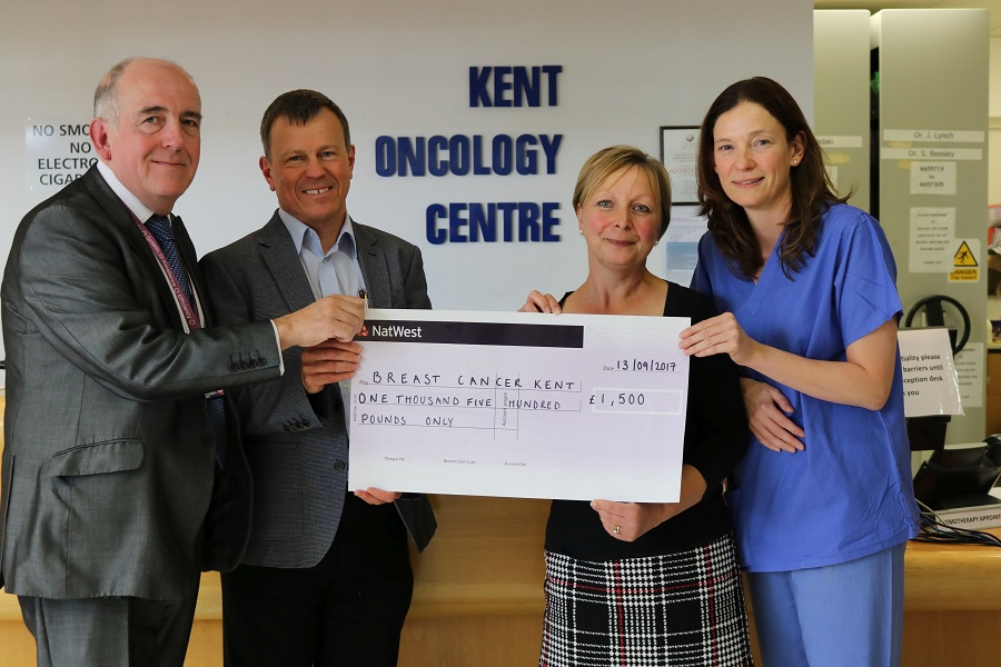 Presentation of Benenden Hospital's cheque
