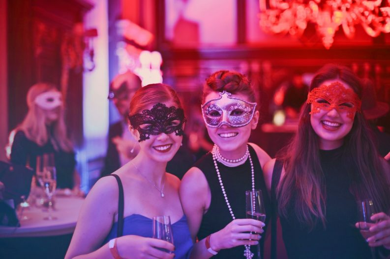 ladies enjoying a night out at the ball
