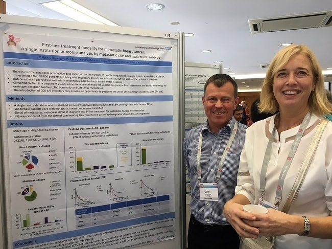 Claire Ryan and Russell Burcombe presenting research at ABC Lisbon