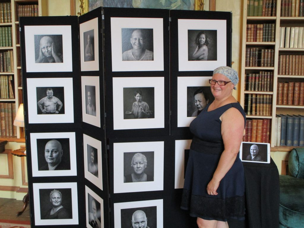 Imelda Bell at her photography exhibition 2018